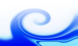 Abstract blue waves. Dynamic abstract blue wavy background Stock Images