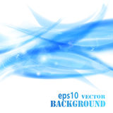 Abstract blue waves background. Vector eps10 illustration Royalty Free Stock Image