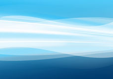 Abstract blue waves background Stock Photography