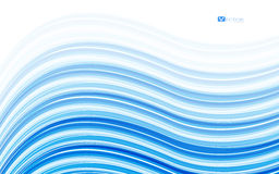 Abstract blue waves - data stream concept. Vector Illustration Stock Photos