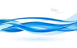 Abstract blue waves - data stream concept. Vector Illustration. Clip-art Stock Images