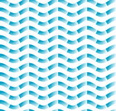 Abstract blue waves seamless pattern. Stock Image