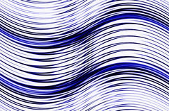 Abstract blue waves shapes on white backgrounds Stock Images