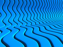 Abstract Blue Waves Stripe Pattern Background. 3d Render Illustration royalty free illustration