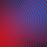 Abstract Blue Waves Stripe Pattern Background. 3d Render Illustration Stock Image