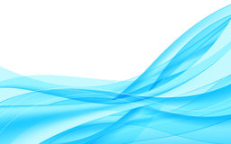 Abstract blue waves. Vector illustration Stock Image