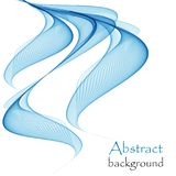 Abstract background with blue waves on a white background. Abstract blue waves on a white background, in the form of colored smoke, or a stream of flowing water stock illustration