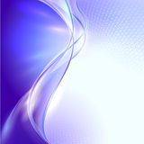 Abstract blue waving background Stock Images