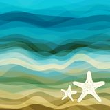 Abstract Blue Wavy Background Stock Image