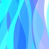 Abstract Blue Wavy Background Royalty Free Stock Photography