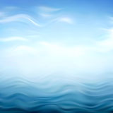 Abstract Blue Wavy Background Royalty Free Stock Photo