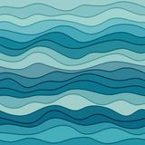 Abstract Blue Wavy Background Royalty Free Stock Images