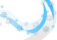 Abstract blue wavy Christmas background. Vector design Stock Photography