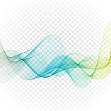 Abstract blue wavy lines. Colorful vector background. Stock Images