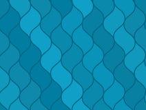Abstract blue wavy sea seamless pattern, marine texture Royalty Free Stock Photos