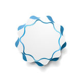 Abstract blue wavy shape vector sticker Royalty Free Stock Images