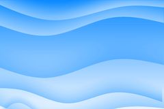 Abstract blue wavy soothing background. In gradients Stock Illustration