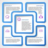 Abstract blue web design banner bubble. Vector illustration Stock Images