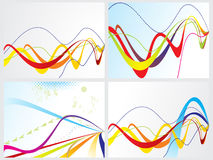 Abstract blue web with rainbow set. Abstract colorful blue web with rainbow concept vector illustration Stock Images