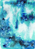 Abstract blue wet watercolor background Royalty Free Stock Image