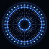 Abstract blue wheel stock image