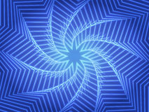 Abstract blue whirl background with star. Stock Photography