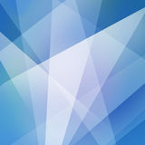 Abstract blue and white angles and shapes, blue business background. Blue business background or abstract design with white angled lines and triangle shapes in Royalty Free Stock Images