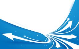 Abstract blue and white arrows line motion background Stock Photography