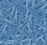Abstract blue and white background with triangle motif, seamless line design Stock Image
