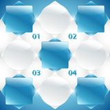 Abstract blue and white banners. Vector Stock Image