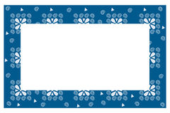 Abstract blue and white border Royalty Free Stock Photography