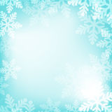 Abstract blue and white christmas background. With snowflakes Stock Photography