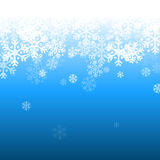 Abstract blue and white christmas background. With snowflakes Stock Photo