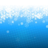 Abstract blue and white christmas background. With snowflakes Royalty Free Stock Photography