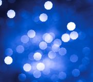 Abstract blue and white circular bokeh background Royalty Free Stock Photo