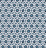 Abstract blue and white flower pattern wallpaper Royalty Free Stock Images