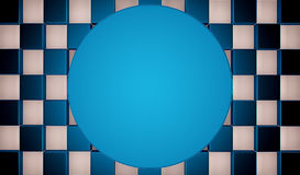 Abstract blue and white geometric background. 3D render. Ing stock illustration