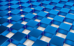 Abstract blue and white geometric background. 3D render. Ing royalty free illustration