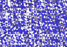 Abstract blue white and grey triangle wallpaper pattern Stock Photos