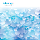 Abstract blue-white laboratory background. Stock Images