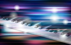 Abstract grunge music background with piano. Abstract blue white music background with piano keys Royalty Free Stock Images