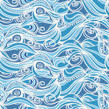 Abstract blue and white pattern Royalty Free Stock Photography