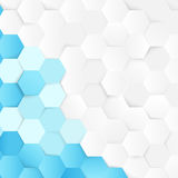 Abstract blue and white repeating background Stock Image