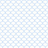 Abstract blue and white seamless wave pattern. Vector illustrati Royalty Free Stock Photography