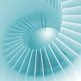 Abstract blue and white spiral structure perspective Royalty Free Stock Images