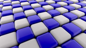 Abstract blue and white squares stock video footage