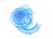 Abstract Blue White Swirl Background Stock Photos