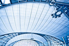 Abstract blue wide ceiling interior Royalty Free Stock Photography