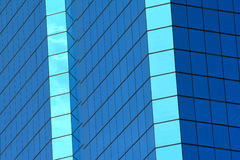 Abstract blue windows of building Stock Photos