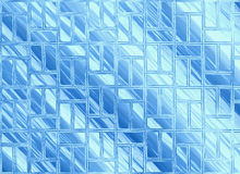 Abstract blue windows glass transparent backgrounds Stock Image